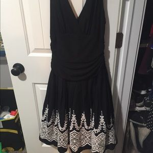 Gorgeous black and white lace semi formal dress